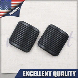2pcs Brake And Clutch Pedal Pad Kit Fit Jeep Wrangler Yj Tj Cherokee Xj 52002750
