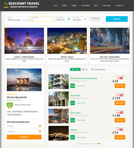 Automated Hotel Travel Website Business For Sale Profitable Newbie Friendly