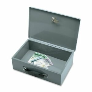 Sparco All steel Insulated Cash Box Steel Gray 3 8 Height X 12 8 Width X