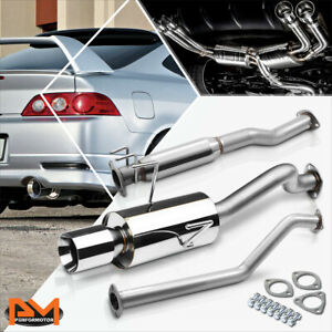 For 02 06 Acura Rsx Dc5 Non Type s K20a3 4 Rolled Tip Muffler Catback Exhaust