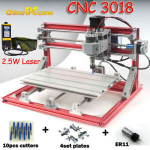 Cnc 3018 Diy Rouyer 2 5w Laser Engraving Carving Pcb Milling Cutting Machine