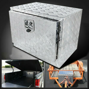 24x17x18 Aluminum Pickup Truck Trunk Tool Box Trailer Under Body Bed Storage Sh