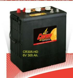 Crown Battery Cr305 hd 6v 305 Ah Flooded Bci 902 Deep Cycle Solar Marine Each
