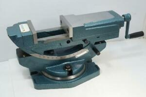New Vertex 4 Hydraulic Tilting Swivel Milling And Drill Press Vice Vise Vh 4t