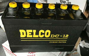 Rare Nos 1960s Delco Dc 12 Battery In Box Chevy Impala Pontiac Super Duty 421