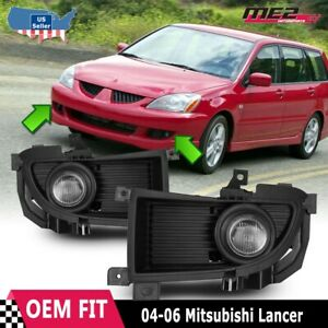For Mitsubishi Lancer 06 Factory Replacement Fit Fog Lights Kit Clear Lens