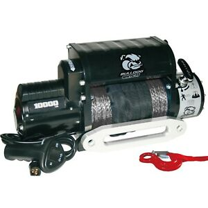 Bulldog Winch 10017 10000lb Winch W 5 8hp Series Wound 100ft Synthetic Rope