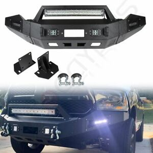 New Complete Front Bumper Assembly W Led Lights For Dodge Ram 1500 2013 2018