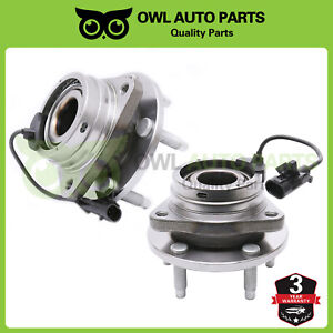 Pair Of 2 Front Wheel Hub Bearing For 2005 2011 Chevy Malibu Pontiac G6 Aura Abs