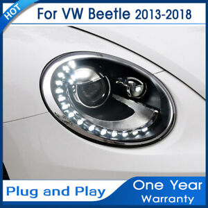 Car Accessories Headlights For Vw Beetle 2013 2018 Bi xenon Lens Projector Led