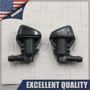 2pcs Super Duty Windshield Washer Jet Nozzles For 08 10 Ford F250 F350 F450 Usa