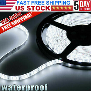 Led Strip Lights 5m Super Bright 300 Leds Waterproof 5050 Smd Cool White Usa
