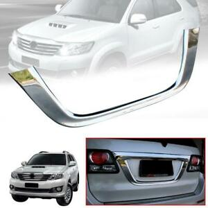 Rear License Plate Tailgate Chrome Cover Trim Fit Toyota Fortuner 2011 2014