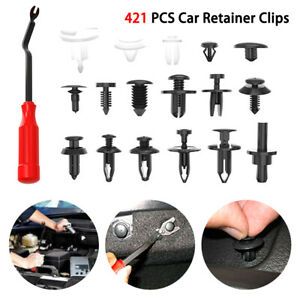 421pcs Car Body Push Pin Rivet Trim Panel Fastener Clip Moulding Assortment Tool