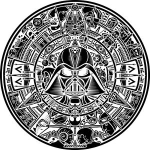 Star Wars Aztec Calendar Dxf Of Plasma Laser Cut Cnc Vector Dxf cdr Ai File