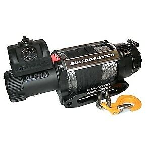 Bulldog Winch 10048 15000lb Alpha Truck Winch Synthetic Rope Hawse Fairlead