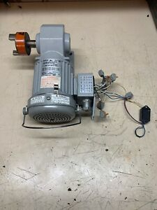 Brother 3 phase Gear Motor 1 8 Hp 80 1 Ratio Right Angle Drive H2l22l080 bjh4a