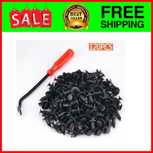 120 PCS 8mm ATV Fender Clips Push Body Rivets Fasteners Clamps for R...