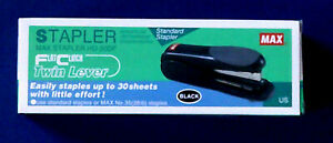 Max Flat clinch Standard Stapler 30 sheet Capacity Black Hd50df