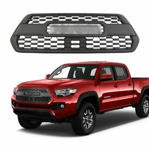 Mesh Bumper Hood Abs Plastic Grille Assembly For 2015 2018 Toyota Tacoma Trd Pro
