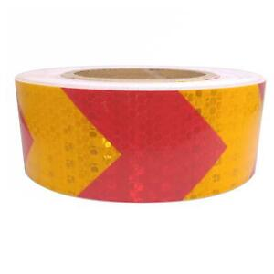 Car Truck Reflective Self adhesive Safety Warning Tape Sticker Red Yellow 25m