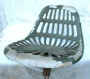 Old Farm Vehicle Tractor Seat With Post Mount Hardware