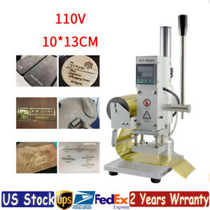 Digital Hot Foil Stamping Machine Pvc Pu Card Leather Embossing Bronzing 10 13cm