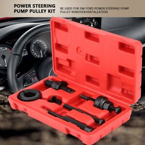 6pcs Power Steering Pump Pulley Kit Puller Remover Installation Tool Set For Gm