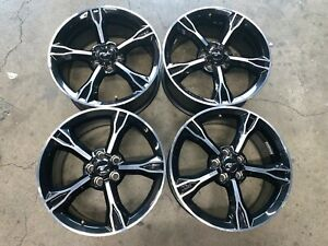 Four 2017 Ford Mustang Gt Factory 19 Wheels Rims 10081 Oem Gr3j1007ca