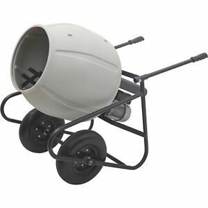 Klutch Portable Electric Cement Mixer 3 5 Cubic Ft Poly Drum