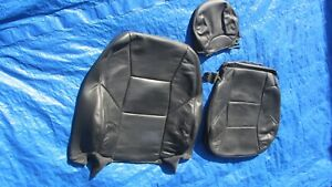 2001 2004 Volvo S60 V70 T 5 Oem Charcoal Driver Left Side Leather Seat Covers