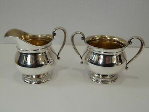 International Silver Prelude Sterling Silver Sugar Cream Creamer