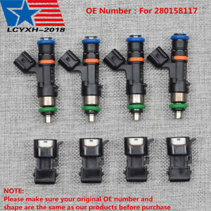 4x 60lb 630cc Fuel Injectors For 1 8t Turbo Audi A4 Tt Vw Golf Jetta Acura Ev14