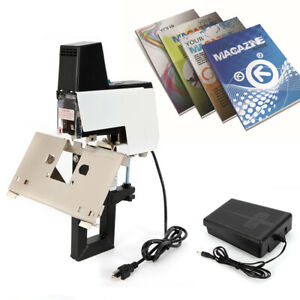 Auto Electric Stapler Flat Saddle Binder Machine Book Binding W foot Pedal Usa