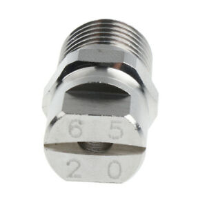 1 4 High Pressure Washer Spray Fan Nozzle Tip 65 Degree Stainless Steel