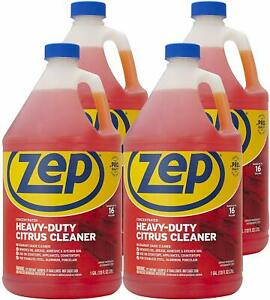 Zep Heavy duty Citrus Cleaner And Degreaser 128 Ounce Zucit128ca case Of 4