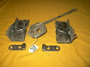 1942 1948 Lincoln Flathead V 12 Rear Door Catch Latch Units Rods Nice