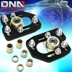For 1990 1993 Ford Mustang Front Aluminum Adjustable Camber caster Plates Black