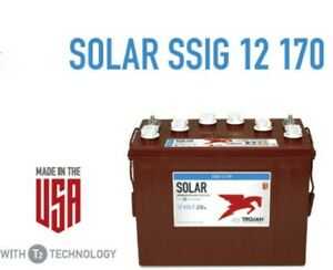 Trojan Battery Solar 12v 170 Ah 100hr Ssig 12 170 Ssig12170 Deep Cycle Flooded