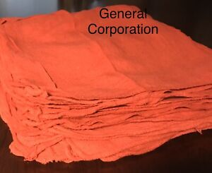 500 New Wiping Red Shop Rags Towels Mechanics Priority Rags Large 14x13