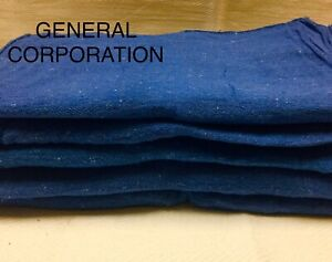500 New Wiping Blue Shop Rags Towels Mechanics Priority Rags Large 14x13