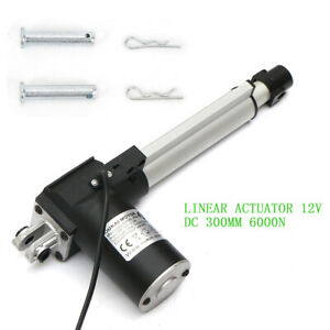 8 12 Inch Stroke Linear Actuator 6000n 1320lbs Pound Max Lift 12v Volt Dc Motor