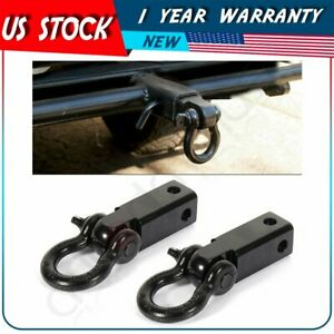 Trailer Hitch Shackle Bracket 2 Receiver 5t 3 4 Inch Recovery D ring 4wd 2pcs