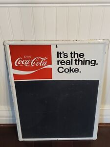 Vintage coca cola menu board