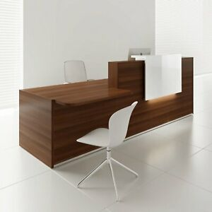 Tera 121 Reception Desk With Lighting Panel Counter Top