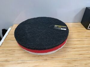 Quickie Professional 17 Floor Pad Set Black Stripping white Polishing red Pads