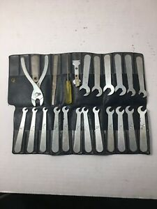 Vintage Ignition 23 Angle Wrench Set W Pouch Made In Usa Pliers File Wrenches