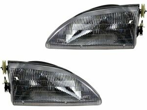 For 1994 1998 Ford Mustang Headlight Assembly Set 54162jh 1995 1996 1997