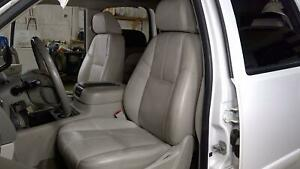 07 08 Chevy Tahoe Titanium Leather Front Bucket Seat Set left right Oem