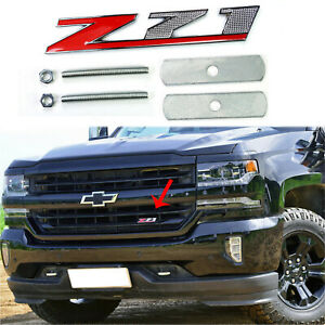 3d Z71 Badge Front Grill Grille Metal Emblem For Chevy Colorado Silverado